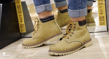 Casual Washed Canvas Simple Boots