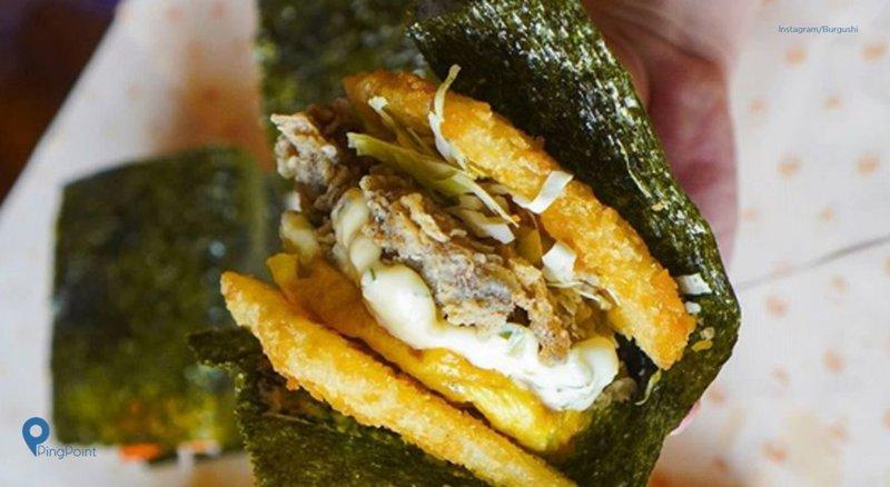 Burgushi Tempat Makan Unik Dengan Menu Paduan Burger Dan Sushi